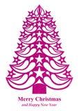 Árvore de Natal feita do papel da grama - rosa Fotografia de Stock Royalty Free