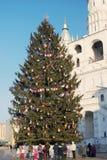 Árvore de Natal no Kremlin de Moscou Foto de Stock Royalty Free