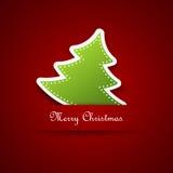 Árvore de Natal, projeto Fotografia de Stock Royalty Free