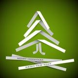 ?rvore de Natal simples do papel do vetor Fotos de Stock
