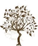 Árvore decorativa do grunge Imagens de Stock