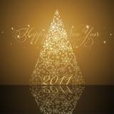 Árvore do ano novo Fotografia de Stock Royalty Free