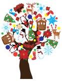 Árvore do ano novo Foto de Stock