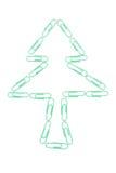 Árvore do clipe de papel Fotografia de Stock Royalty Free