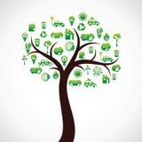 Árvore do ícone da natureza de Eco Fotografia de Stock Royalty Free