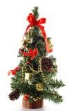 Árvore do cone do pinho do Natal Fotos de Stock