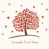 Árvore do coração Foto de Stock