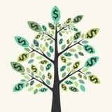 Árvore do dinheiro, da riqueza e do sucesso Fotografia de Stock Royalty Free