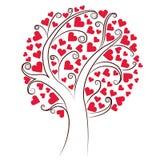 Árvore dos corações Fotografia de Stock Royalty Free