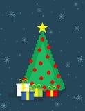 Árvore e presentes de Natal Fotos de Stock Royalty Free
