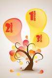 Árvore engraçada do outono com com três opções Imagens de Stock Royalty Free