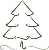Árvore simples (do Natal) no inverno Fotografia de Stock