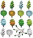 Árvores abstratas, inverno, mola, verão, outono? Fotos de Stock Royalty Free