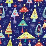 Árvores de Natal da textura Fotografia de Stock