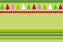 Árvores do vetor do Natal Fotos de Stock