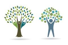 Árvores dos povos para o negócio de vida saudável Imagens de Stock