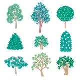 Árvores exóticas dos desenhos animados Fotos de Stock Royalty Free