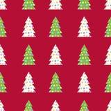 ?rvores verdes e brancas sem emenda Fotos de Stock Royalty Free