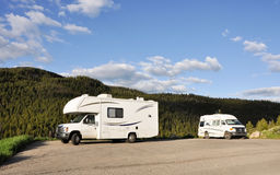 Rvs at nature trail Royalty Free Stock Photos