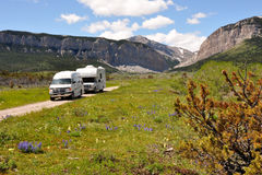 RVs in wilderness Royalty Free Stock Image