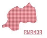 Rwanda África Dot Map Imagen de archivo