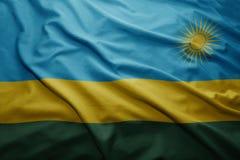 Rwanda bandery Obraz Royalty Free