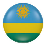 Rwanda button on white background. 3d rendering of a Rwanda flag on a button Royalty Free Stock Image