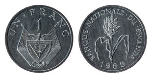 Rwanda Coin (1985 year) Royalty Free Stock Image