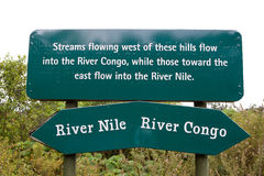 Rwanda Congo Nile divide basin Stock Images
