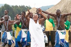 Rwanda dancers in the village Stock Photo