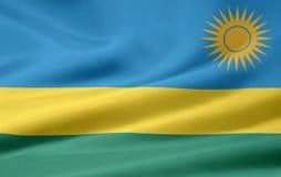 Rwanda flag. Rwanda blue, yellow and green flag background Royalty Free Stock Images