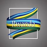 Rwanda flag. Official national colors. Rwandan 3d realistic stripe ribbon. Vector icon sign background. Rwanda flag. Official national colors. Rwandan 3d Royalty Free Stock Photo