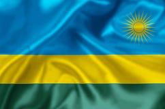 Rwanda flaggaillustration stock illustrationer