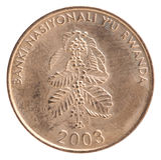 Rwanda franka moneta Fotografia Royalty Free