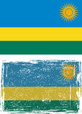 Rwanda grunge flag. Vector illustration Stock Photos