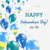 Rwanda Independence Day Greeting Card. Royalty Free Stock Images