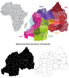 Rwanda map Stock Photo