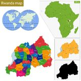 Rwanda map Royalty Free Stock Image