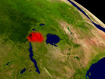 Rwanda from space Stock Images