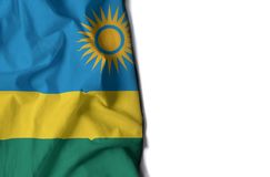 rwanda wrinkled flag, space for text Royalty Free Stock Photo