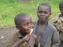 rwandan barn Fotografering för Bildbyråer