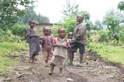 rwandan barn Arkivfoto