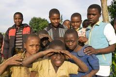 rwandan barn Arkivbild