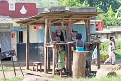 Rwandan butcher shop Royalty Free Stock Photo