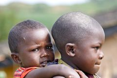 Rwandan children Royalty Free Stock Images