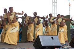 Rwandan dancers Royalty Free Stock Photos