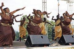 rwandan dansare Arkivbilder