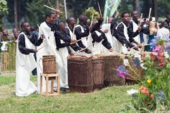 Rwandan drummers Stock Image