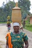 rwandan kvinna Fotografering för Bildbyråer