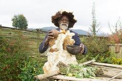 Rwandan medicine man Stock Image